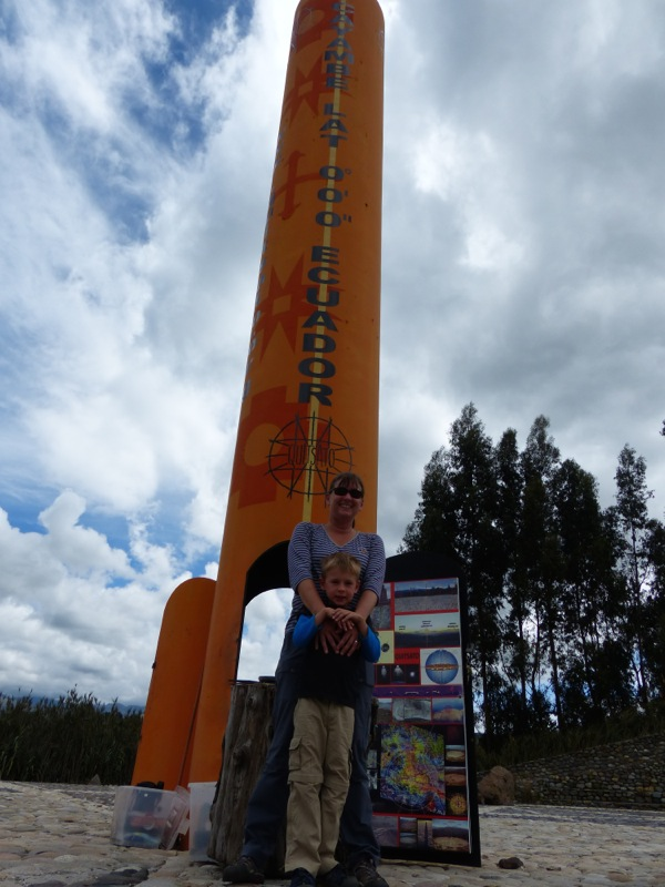 We crossed the equator for like the fifth time, but this was the first time we drove across (since we crossed it in Gabon, anyway, 10 years ago.  This time the temperatures were MUCH cooler!).
