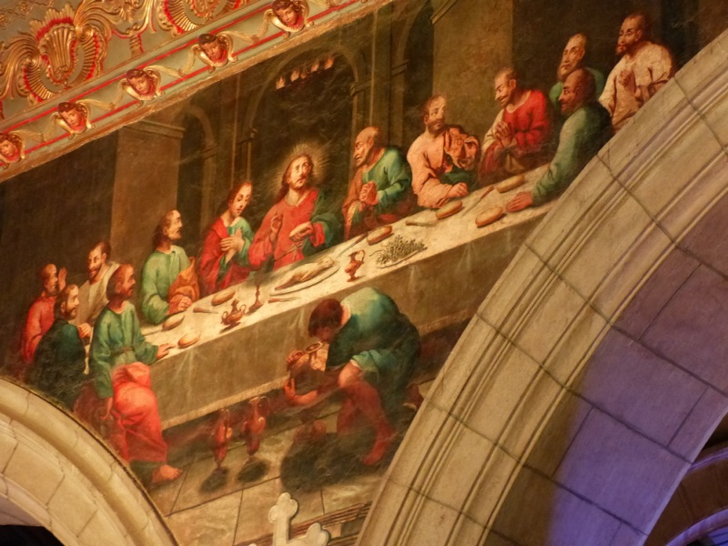 In a nearby cathedral, a painting of the Last Supper features Jesus feasting on Cuy (a local delicacy of roasted guinea pig).