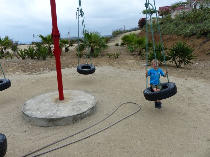 Best home-made playground equipment to date.