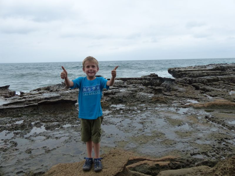 """Despite the fact that it was a """"hike"""" our walk out to the rocky point garnered two thumbs up."""