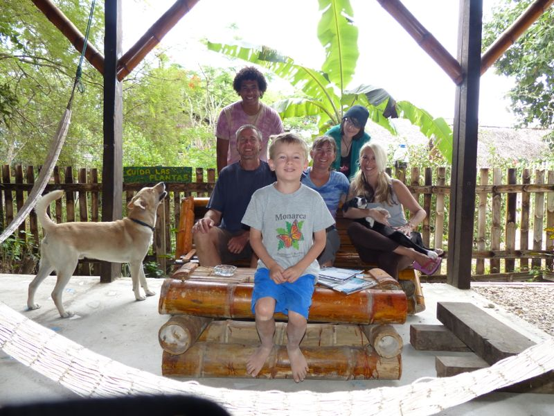 We stopped in Montañitas to visit Jen's friend Lainie and her son Miro, who organize and run Project World School.