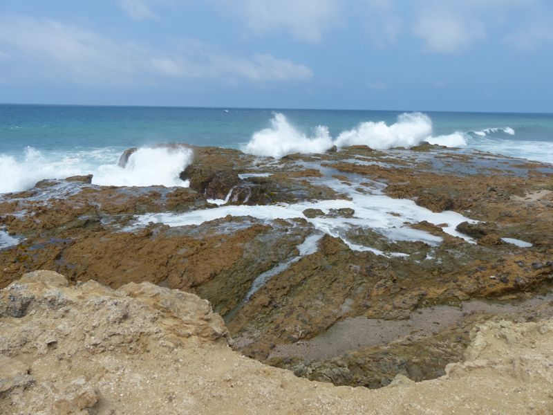 On the way into Guayaquil, we drove through the beach town of Salinas just to get a feel for it. We also stopped at La Chocolatera (chocolate earth), a windy point on the coast with some stunning scenery.