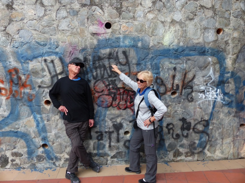 We tried to keep my parents from contributing to Cuenca's graffiti problem, but they couldn't resist a little tagging.