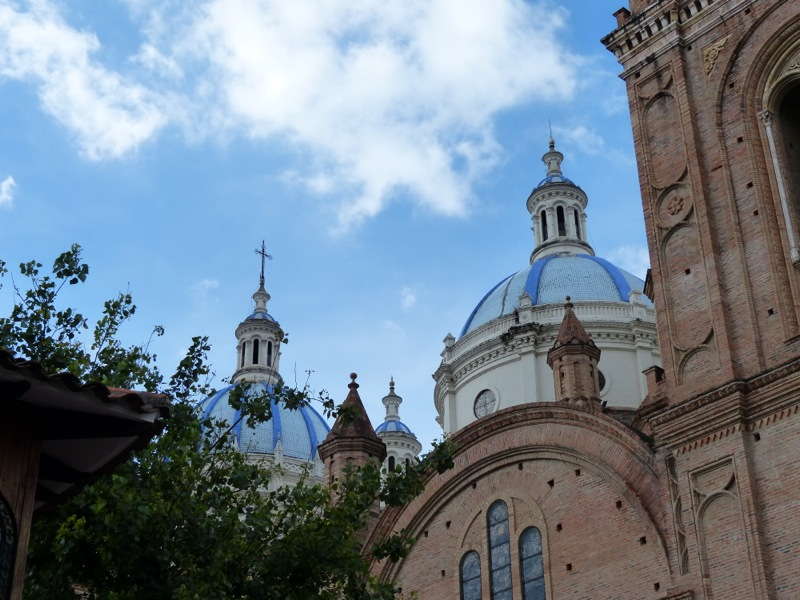 The blue domes of the new cathedral make great photos.