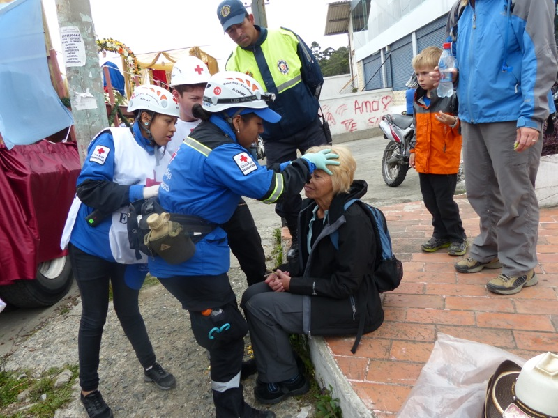 Kathy got lots of attention from the medics