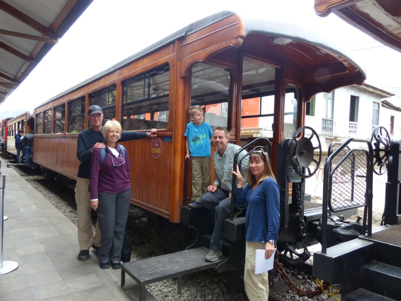 We took Quinn on a ride on the Nariz del Diablo, a short section of the recently restored rail line from Guayaquil to Quito.