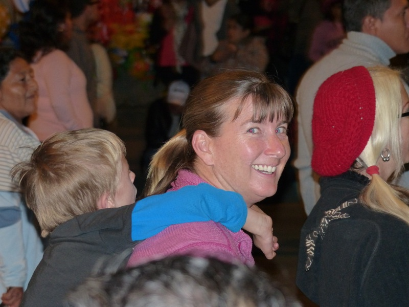 We went with our friend Lainie and some of her friends to another parade in town one night.