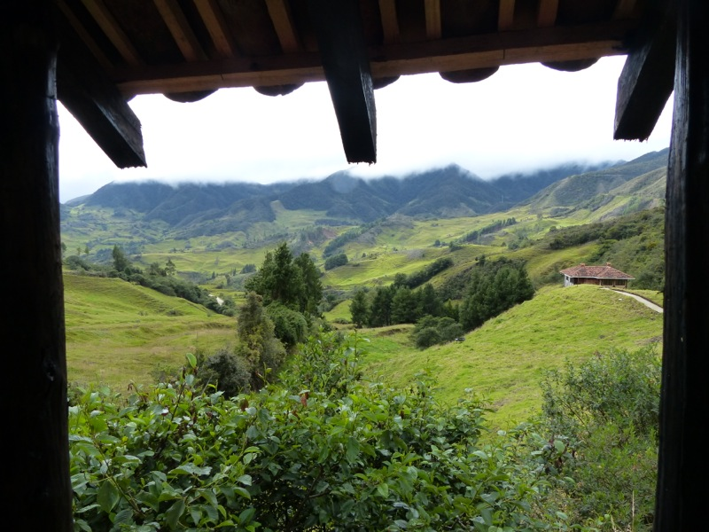 The view from our campsite on the way from Cuenca to Loja