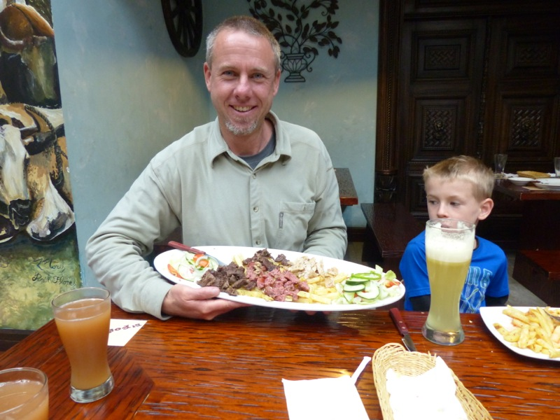 We went to an Argentinean restaurant in Loja for lunch as a preview for the never ending meat fest that country is rumored to be.