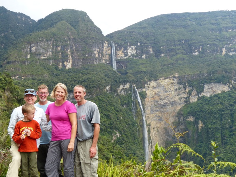 The next day we enlisted the services of Teodolo, a local guide, to take us to some nearby waterfalls. The falls are 771 meters high, making them among the highest in South America.