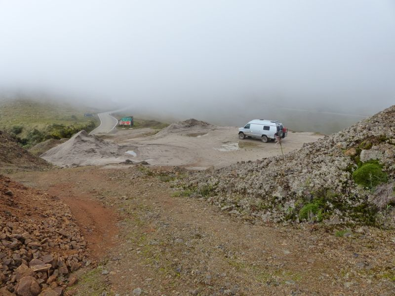 Our campsite on the pass.