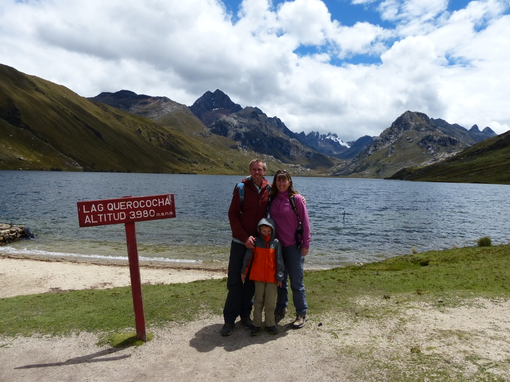 Last Friday we took a guided tour to the ruins of Chavín on the other side of the mountains. We stopped to see this alpine lake on the way.