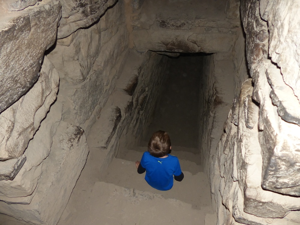 There were lots of cool tunnels to explore.