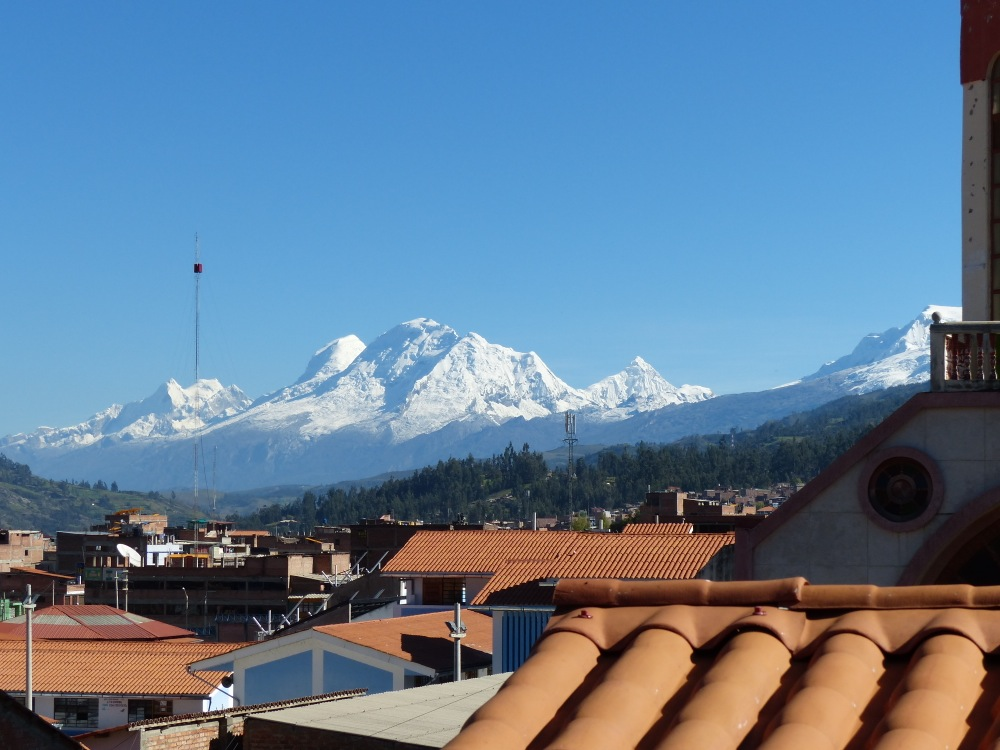 Huascarán from our rooftop deck.