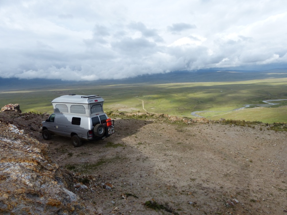 Our campsite overlooked the Santa river valley.