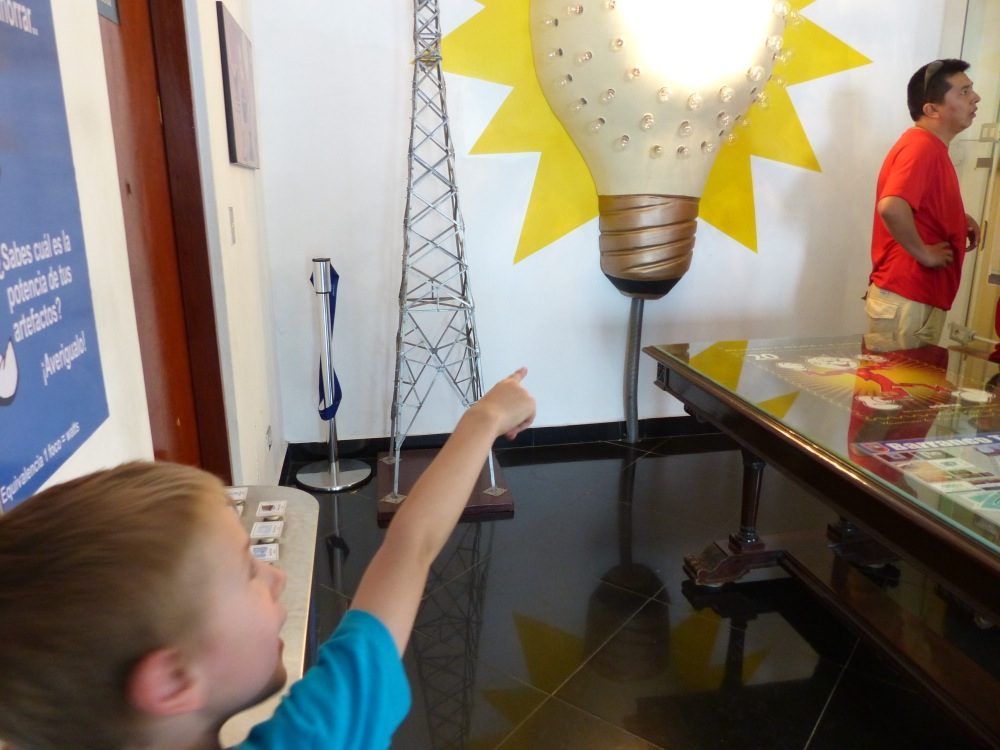 Our first stop was the electricity museum. The draw was an electric trolley, but they had lots of cool interactive exhibits too.