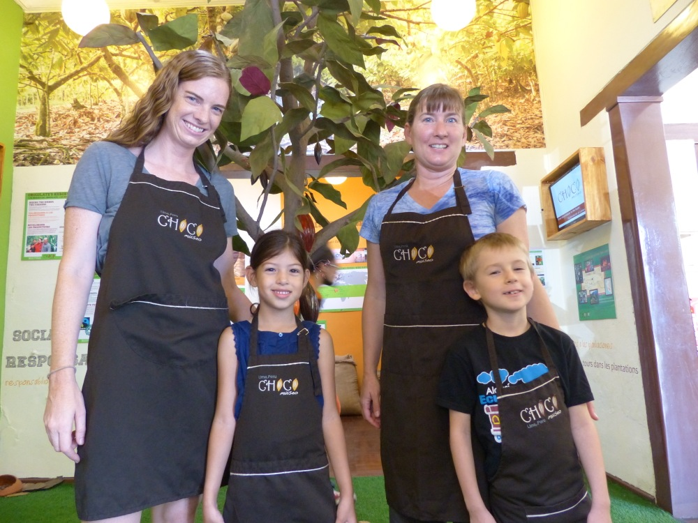 We met up with Aimee and her daughter Augustina at a chocolate museum the next day.