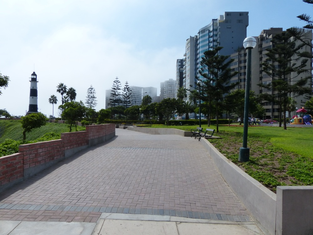 We stayed in Miraflores, a wealthy suburb of Lima. It has high-rise apartments along the coast and a great waterfront walkway.