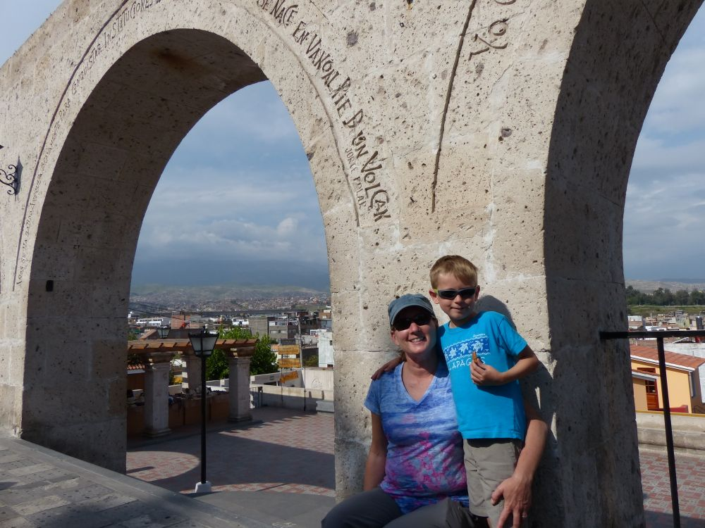 At a mirador overlooking the city.