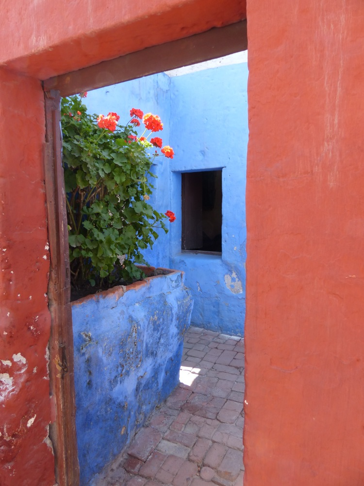 With it's beautifully painted walls and lots of flowers, the convent is a photographer's dream.