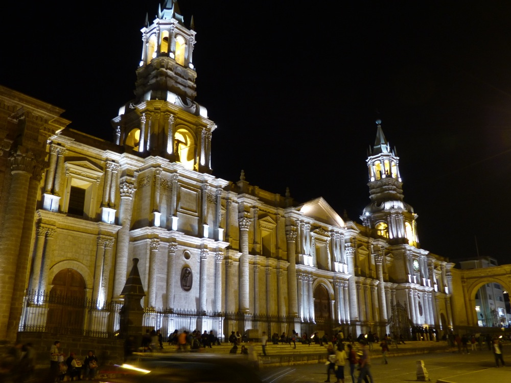 The cathedral on Arequipa's Plaza de Armas