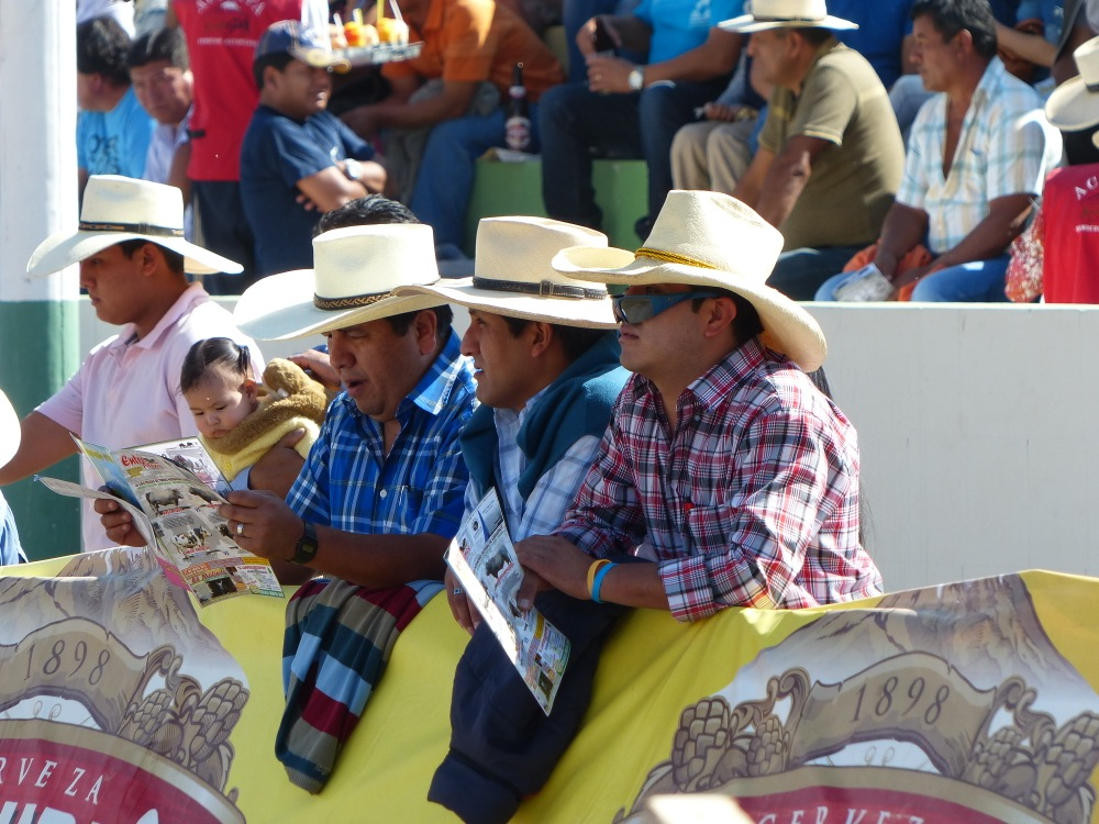 The audience was mostly Peruvian cowboys. We were the only gringos in attendance.