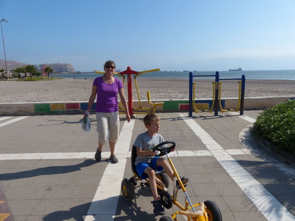 We didn't spend all of our time at museums. Arica had great waterfront park and walkway featuring lots of fun stuff for kids.