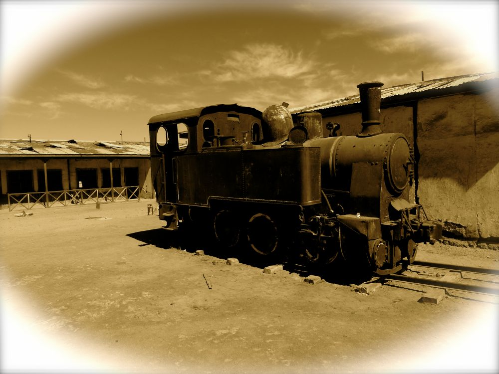 The various old locomotives rusting away in the desert were a highlight of the visit.