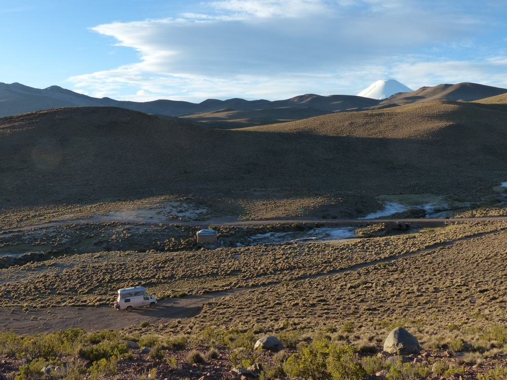 We camped at another hot spring our second night.