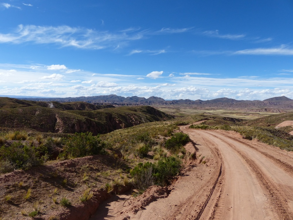 The road we took to Sucre was an unexpected surprise, winding through beautiful countryside.