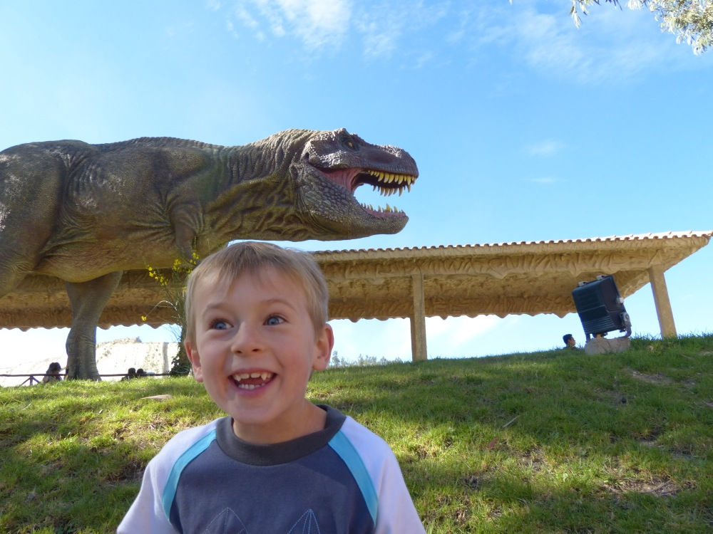 Our first sightseeing trip was to a local dinosaur park. It was really well done and Quinn had a great time.