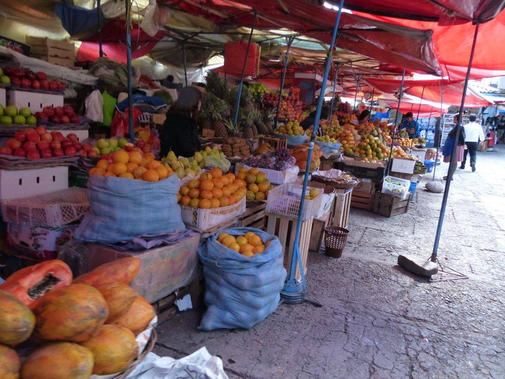 Sucre had a great central market, featuring fruit from the jungle regions of the country and eggs and cheese from the highlands.