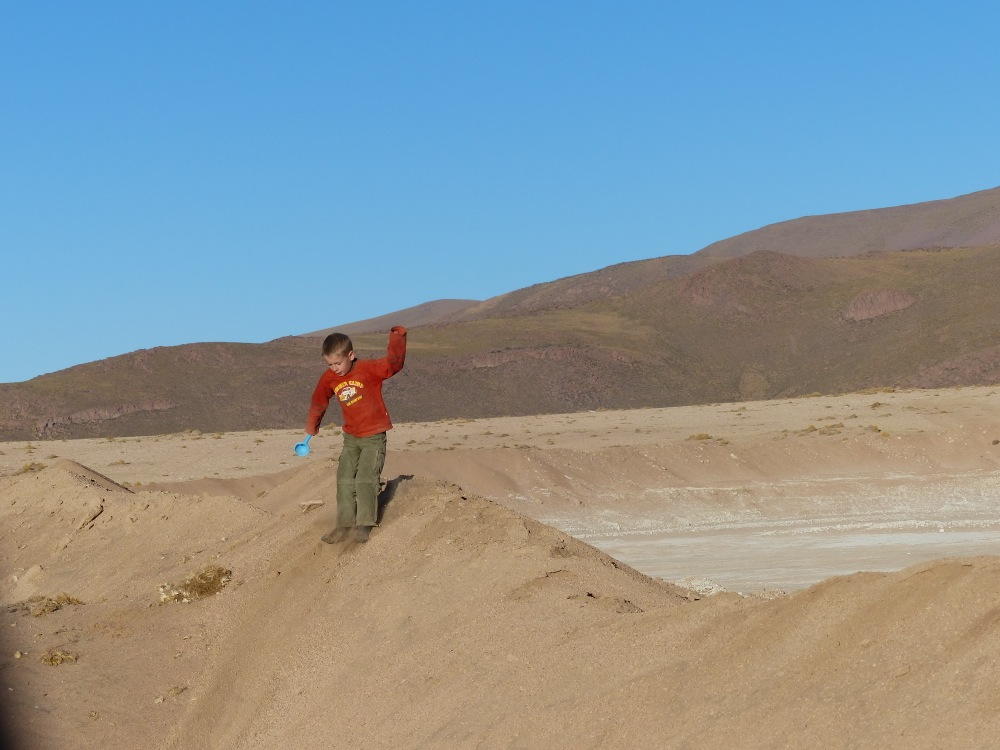 There were dirt piles at the campsite, which are second only to wifi in making for a great camp.