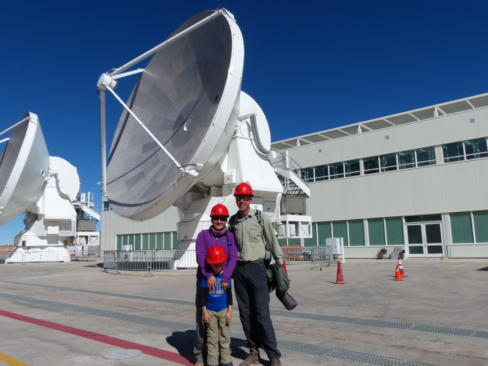 These 12m telescopes have been moved from the 5000m plateau where they operate down to the maintenance and operations facility at 2400m for repairs.