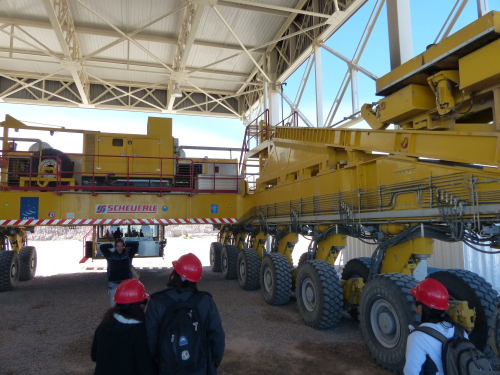 How do you move a 12m telescope, you ask? With one of these crawlers. It moves at 5kph and consumes $2000 of diesel fuel in a round-trip.