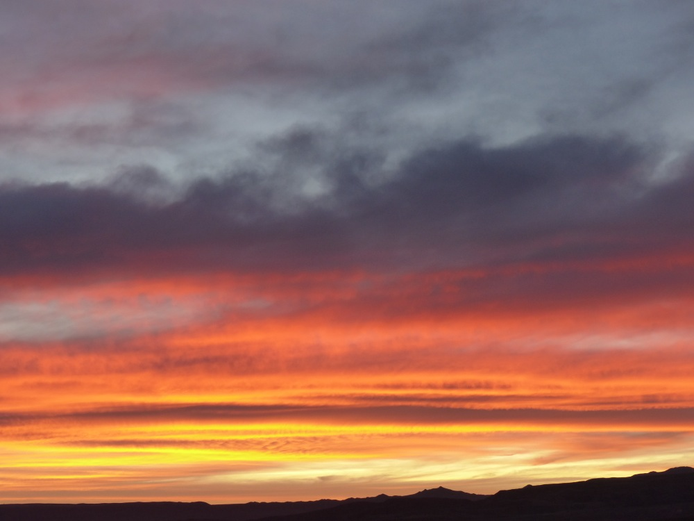 We got to see an amazing sunset on our way up to see the Tatio geysers.