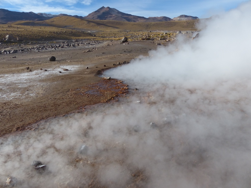 The geysers were neat to see, although they consisted mostly of pools of boiling water and not many actual jets.