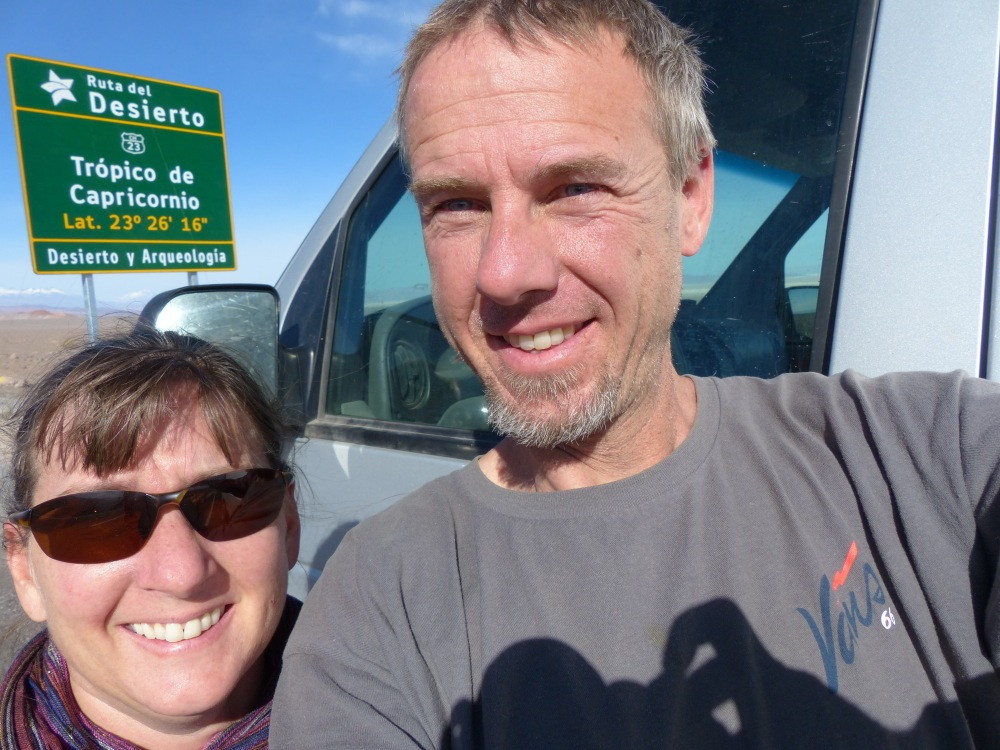 On the way we crossed the Tropic of Capricorn.