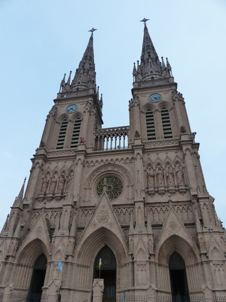 We happened upon this amazing Gothic cathedral while in the town of Lujan.