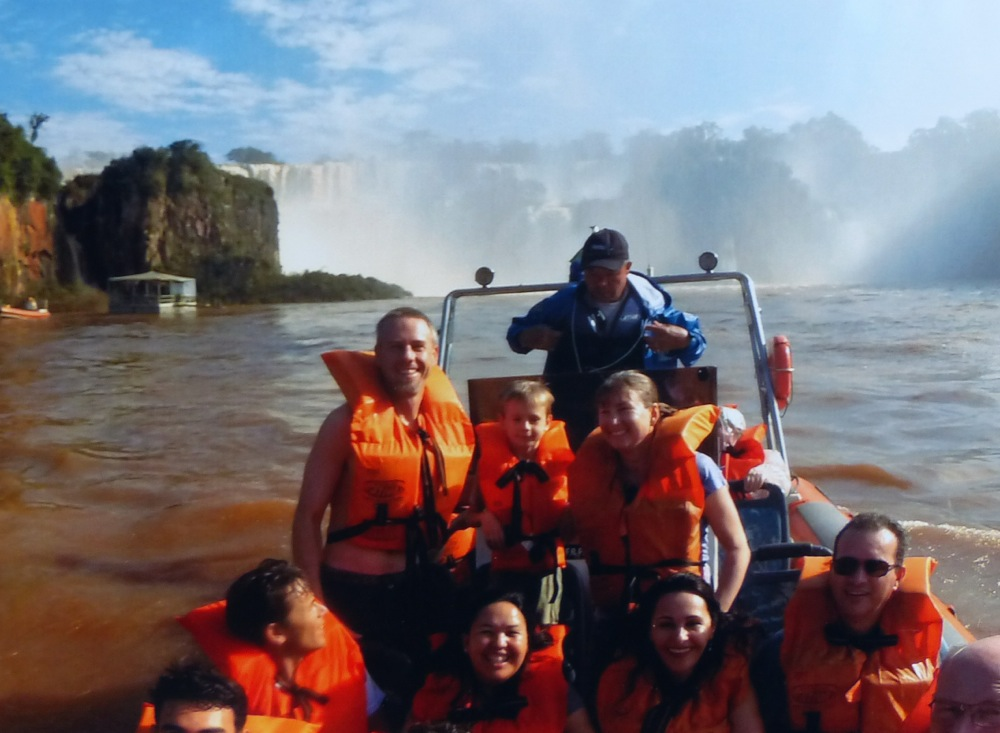 We went for a boat ride that got us up close, personal, and soaking wet to the falls.