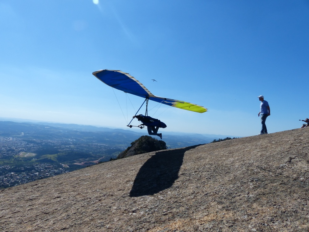 We drove to a mountaintop near their house where we got to watch hang gliders launching into the sky.
