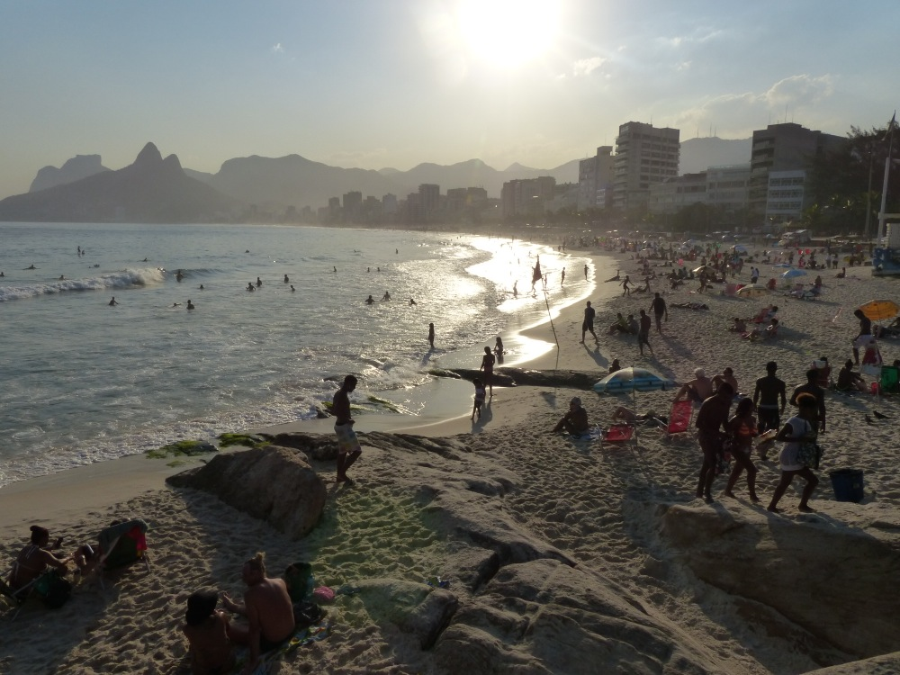 Rio is still a big city, and although the beaches look nice, we were advised not to swim because of poor water quality.