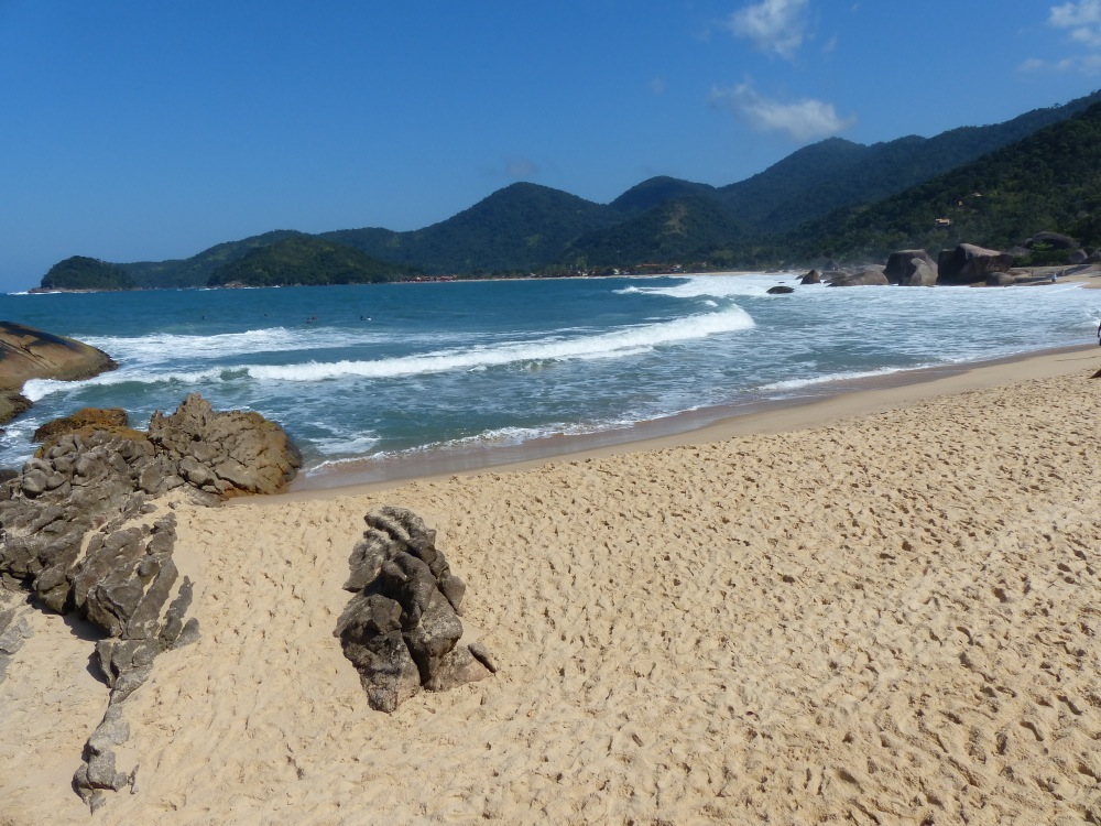 The quiet beach at Trinidade was very relaxing after the hustle and bustle of Rio.
