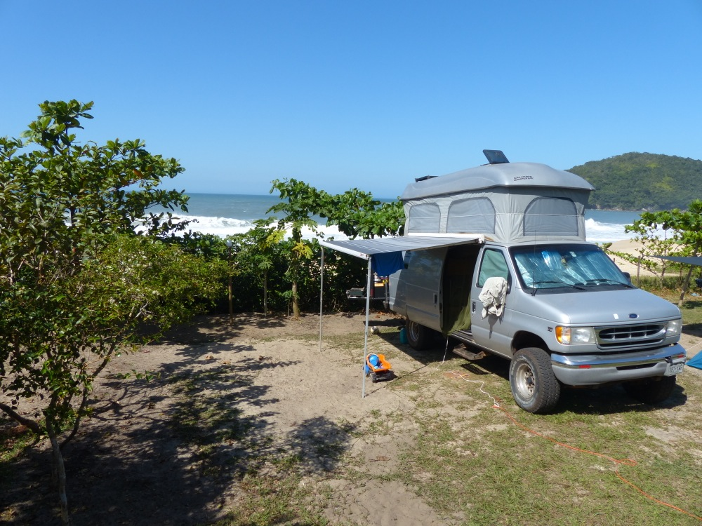 Our campsite on the beach