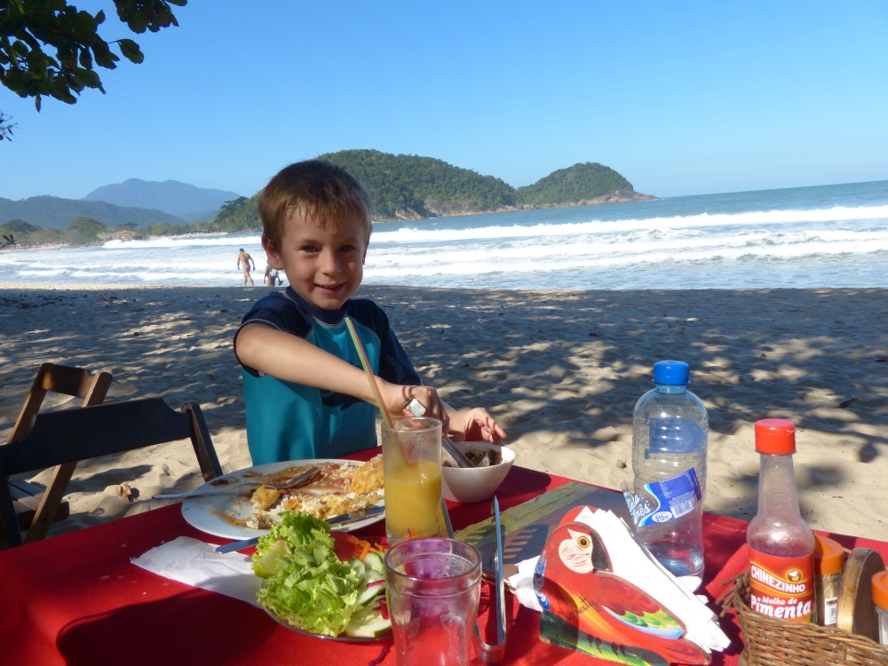 One afternoon we walked to a restaurant and enjoyed a 3 hour meal with our toes in the sand.