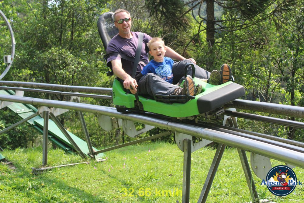 The alpine slide was a big hit. Q and I rode it about 10 times.