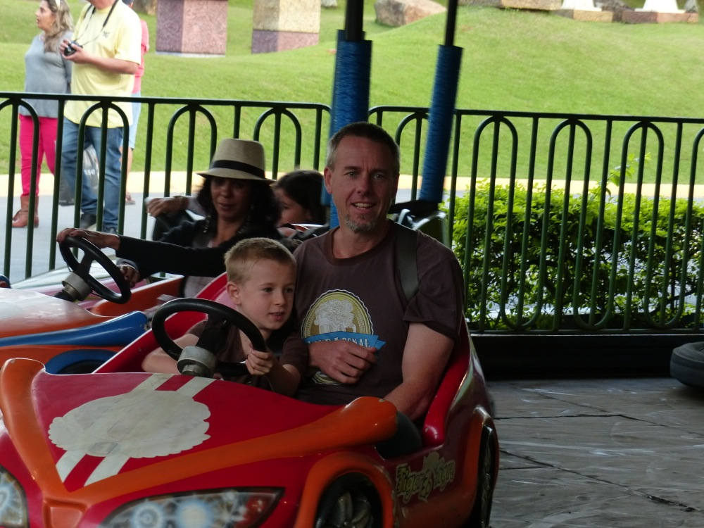 ... and the bumper cars were a big hit too.