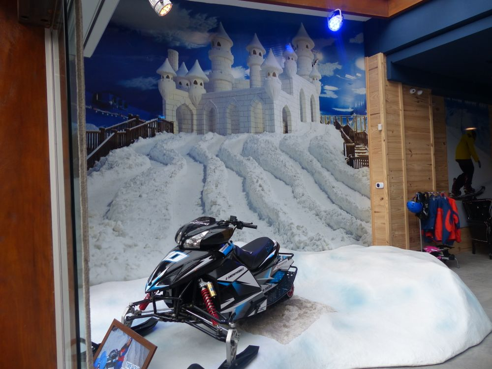 This is probably the only snowmobile in all of Brazil.