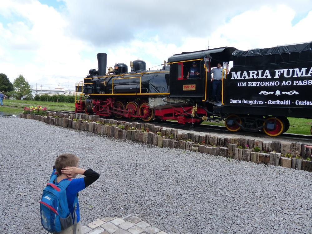 The next day we rode the Maria Fumaça railroad, a tourist train pulled by a real steam engine.