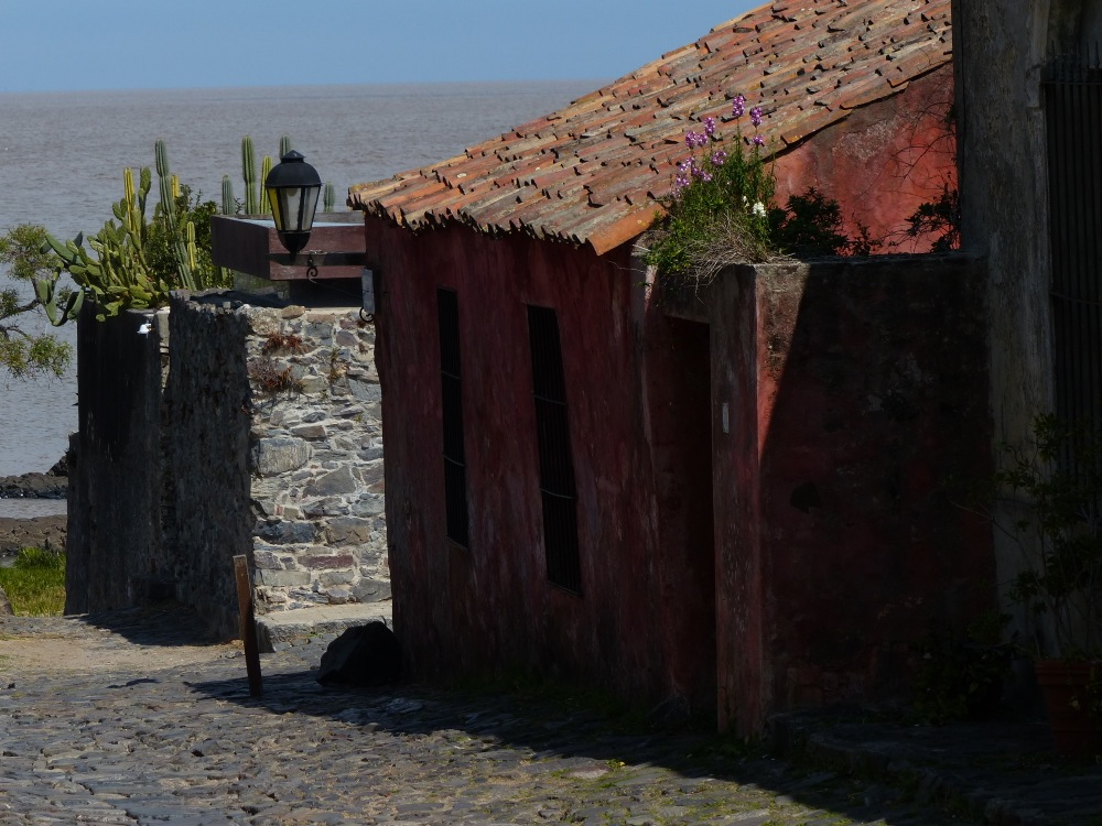 The cobble stoned streets of Colonia are lined with restaurants, shops, and small museums.